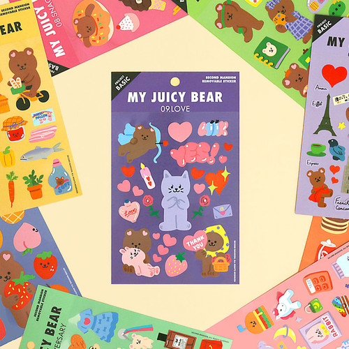 Project basic my juicy bear removable sticker