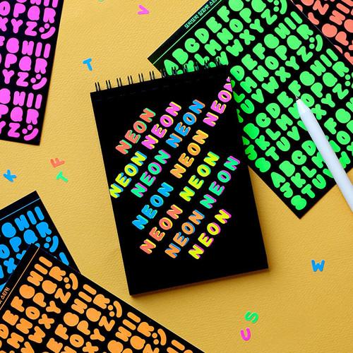 Neon Alphabet upper case letter craft decoration sticker