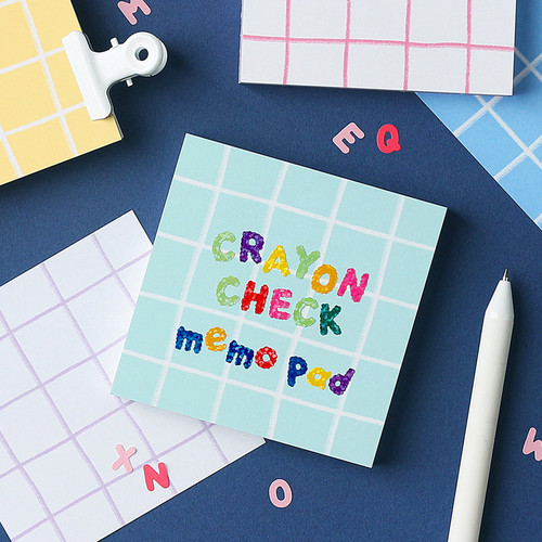 Wanna This Crayon check 4 designs memo notes notepad