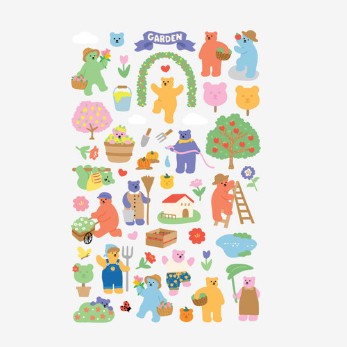 Dailylike Jelly bear Garden paper removable sticker
