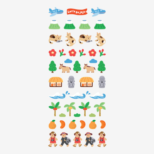 Dailylike Jeju removable paper diary deco sticker seal
