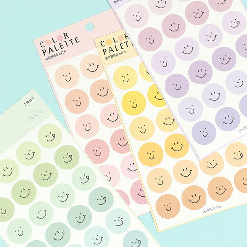 PAPERIAN Color palette Smile deco sticker set