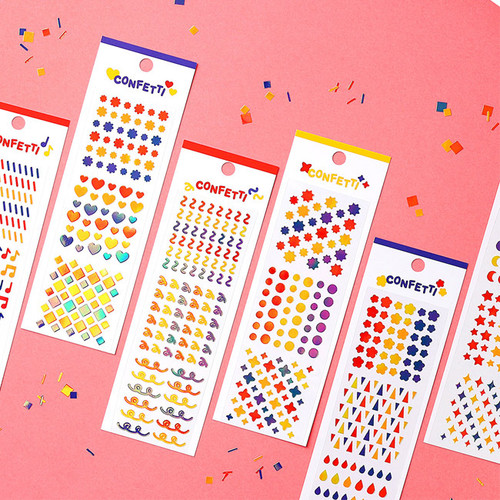 Wanna This Confetti aurora pearl mini deco sticker 01