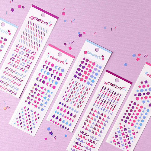 Wanna This Confetti aurora pearl mini deco sticker 02