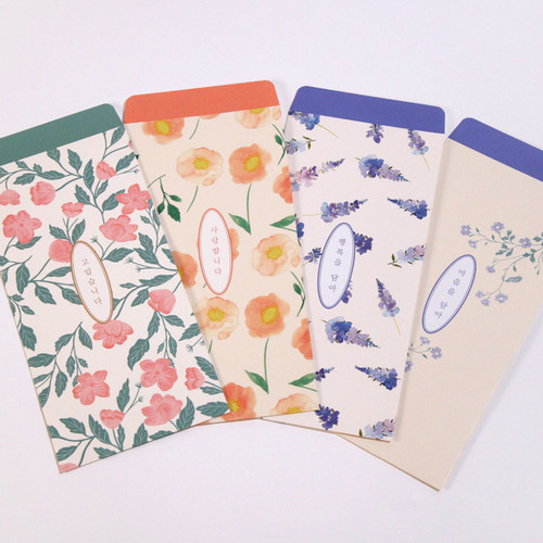 DESIGN GOMGOM Flower pattern envelope set