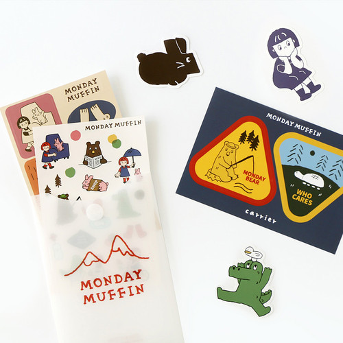 ROMANE Monday muffin removable deco sticker pack