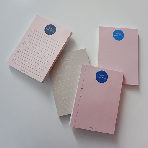Today's things to do large memo checklist planner notepad