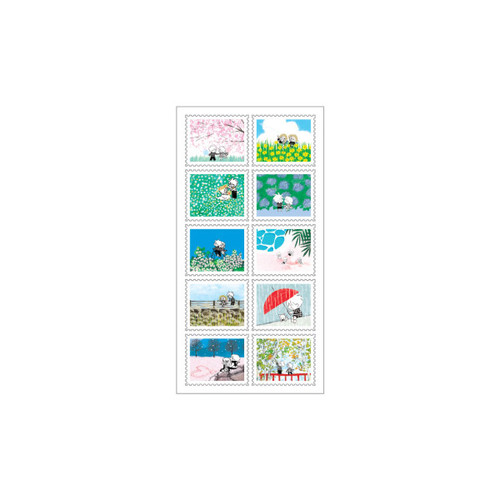 DESIGN GOMGOM Horizontal post stamp adhesive sticker sheet
