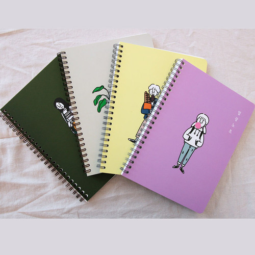 DESIGN GOMGOM Common days spiral bound lined notebook