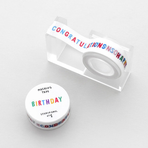 2NUL Birthday decorative paper masking tape