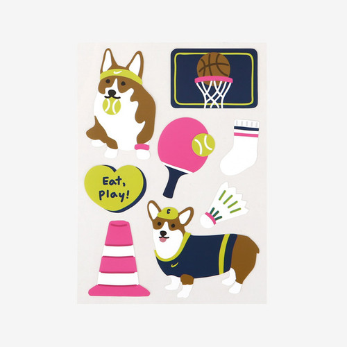 Dailylike Welsh corgi removable paper deco sticker