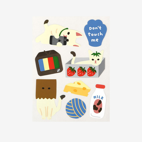 Dailylike Lazy cats removable paper deco sticker