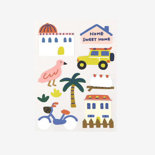 Dailylike Village removable paper deco sticker
