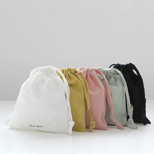 GMZ Around'D Oui Oui fabric drawstring pouch