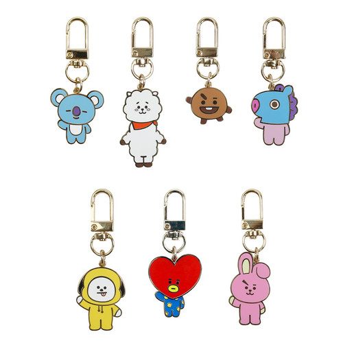 BT21 Simple metal keyring