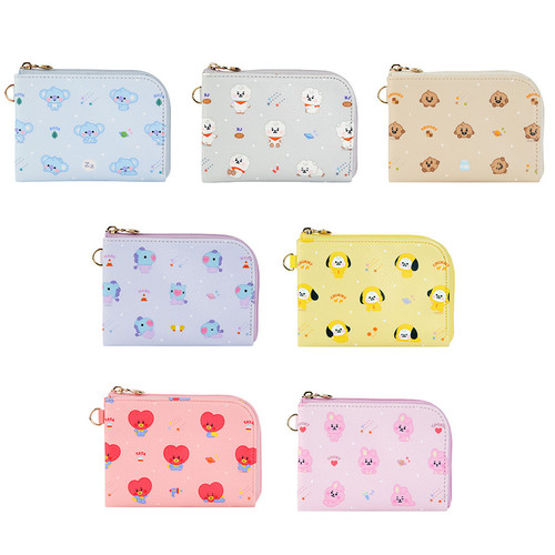BT21 Baby pattern zipper card pocket wallet