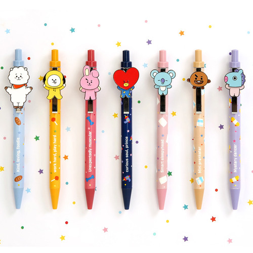BT21 Swing 0.5mm black gel pen