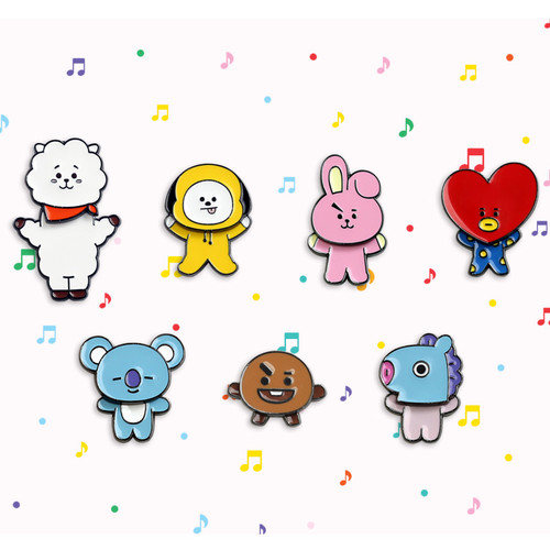 BT21 Swing pin badge