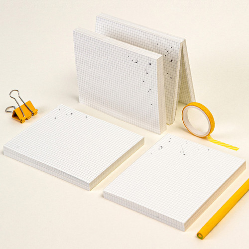 Ardium Starry night double side grid memo notepad