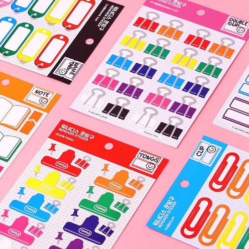 Wanna This Stationery store removable sticker 07-12