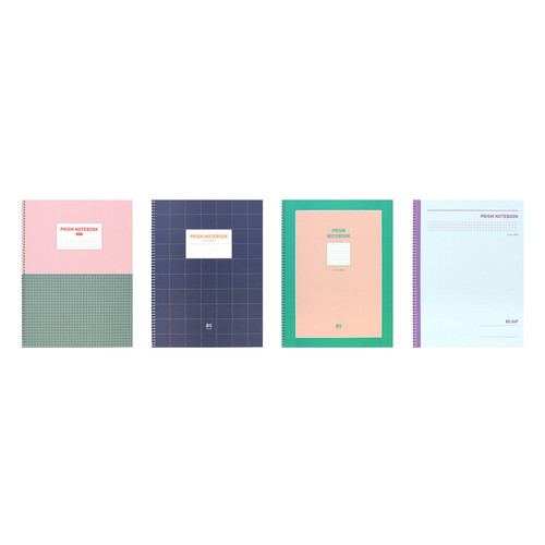 Indigo Prism 56 spiral bound B5 grid notebook