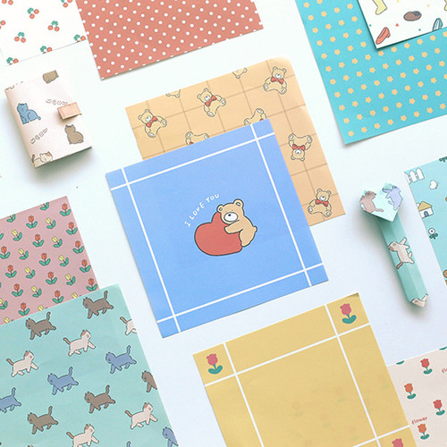 Indigo Monologue daily illustration decorative paper set