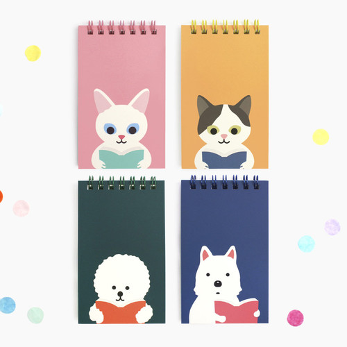 Bookfriends Reading pet wire-bound grid writing pad