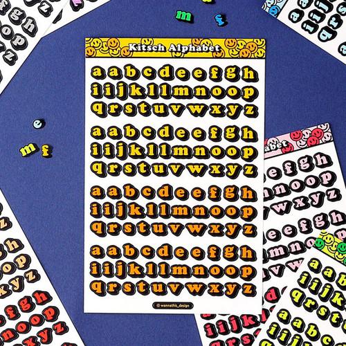 Wanna This Kitsch kitsch lower case Alphabet sticker