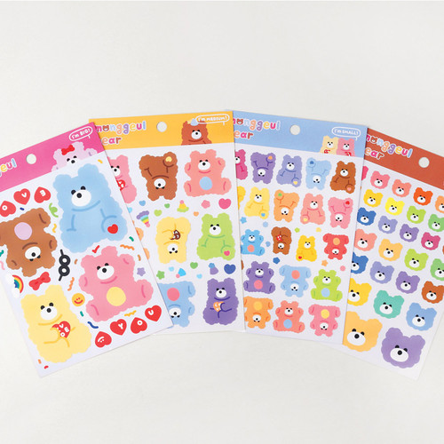 Wanna This Monggeul bear removable sticker