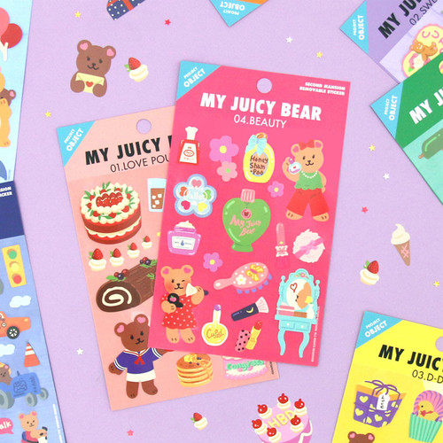 Project object my juicy bear removable sticker