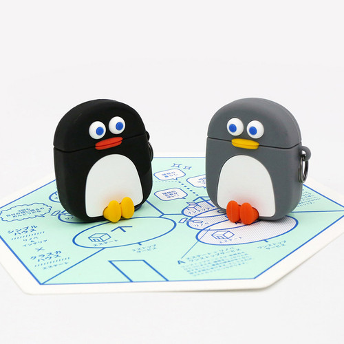 ROMANE Penguin AirPods silicone case cover