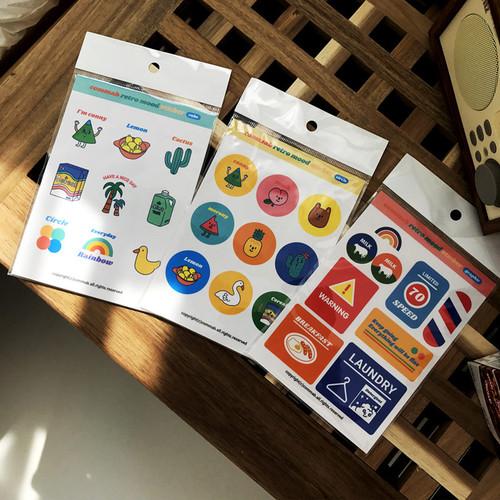 Design-comma-B-Retro-mood-paper-sticker-