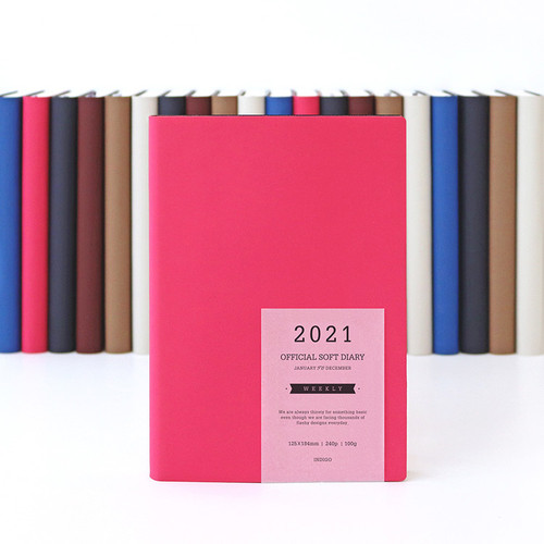 Indigo 2021 Official soft dated weekly diary planner