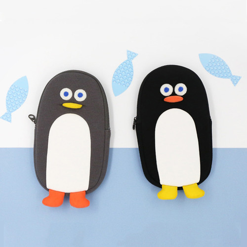 ROMANE Brunch Brother penguin zipper pencil case