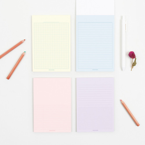 Bookfriends Colored A6 memo writing pads
