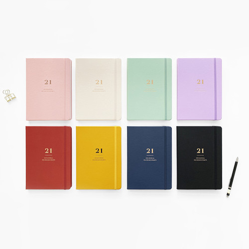 O-check 2021 Mon journal A5 dated weekly agenda planner
