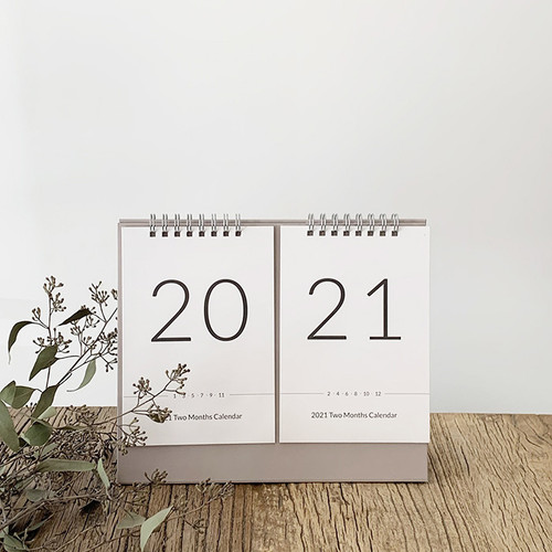 N.IVY 2021 Two months standing monthly desk calendar