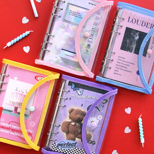 Second Mansion Love Beat A6 6-ring dateless weekly diary planner
