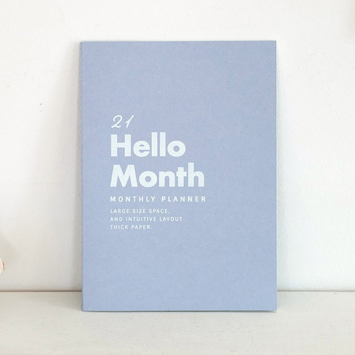 Eedendesign 2021 Hello month B5 dated monthly planner