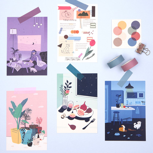 Ardium Memory of twelve months postcard set