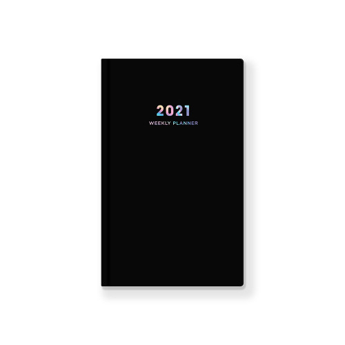 2021 Black hardcover dated weekly planner