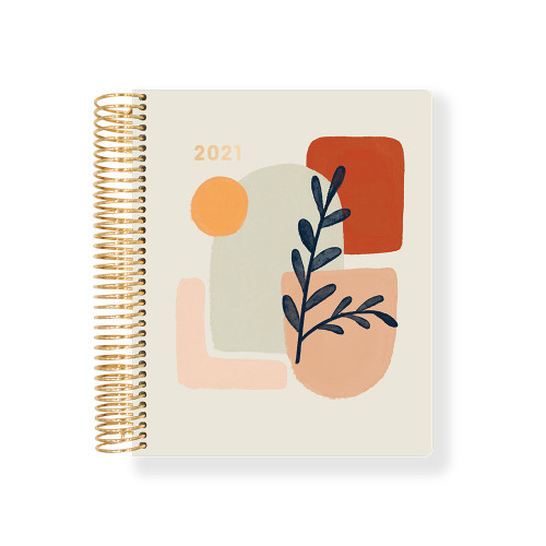 2021 Geo shape PU hardcover dated weekly planner