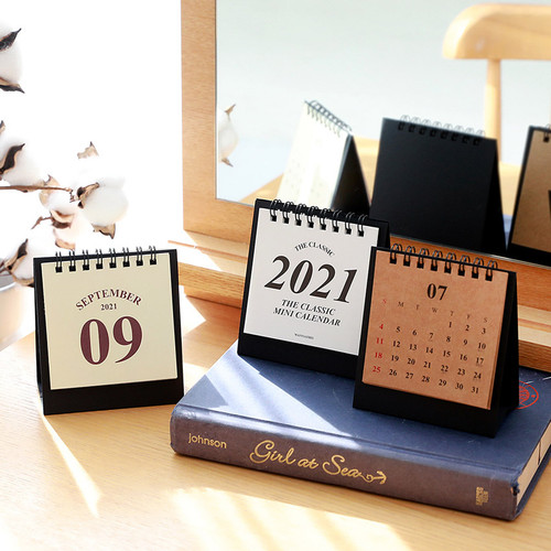 Wanna This 2021 Classic mini dated monthly desk calendar