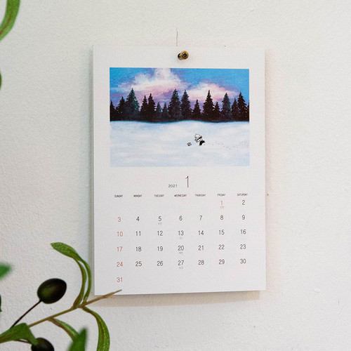 DESIGN GOMGOM 2021 Moment dated monthly wall calendar