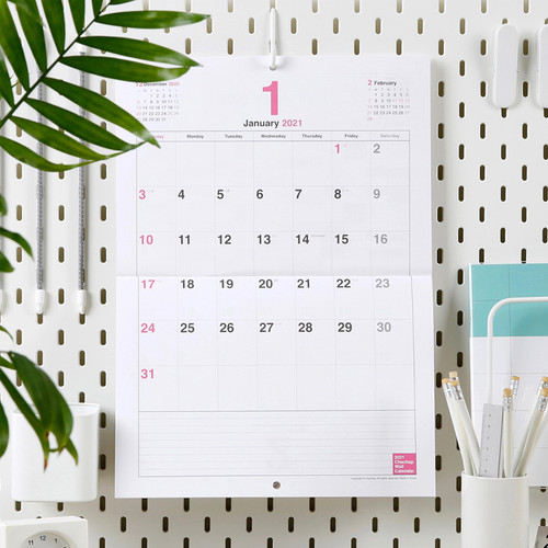 2021 Chachap dated monthly wall calendar
