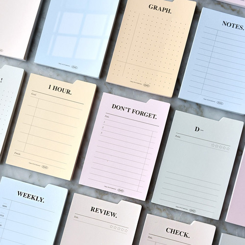 Play Obje Index memo plan checklist various sticky notepad