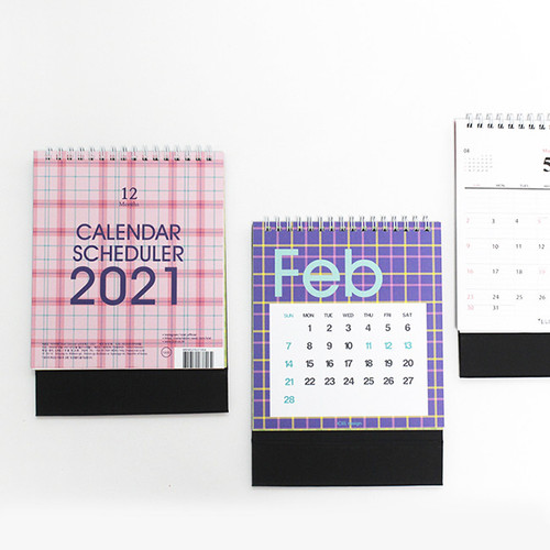ICIEL 2021 New-tro check dated monthly desk calendar