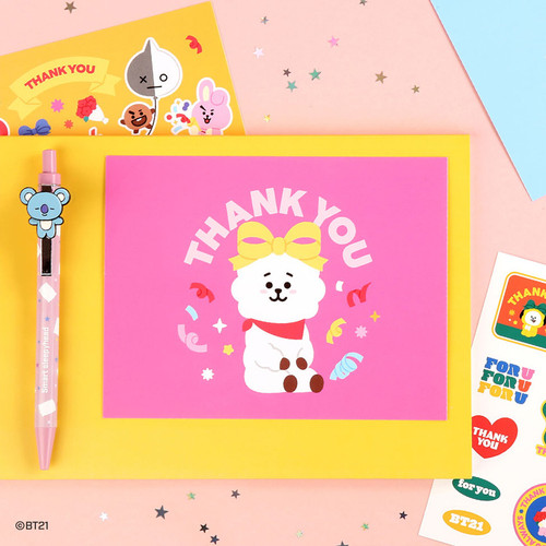 BT21 Thank you card and envelope set