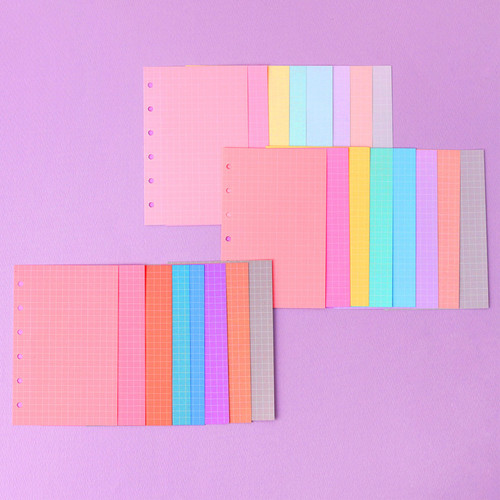 Wanna This Palette grid paper A7 size 6 holes refills set