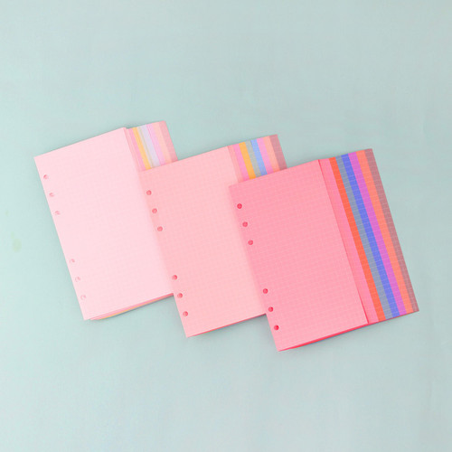 Wanna This Palette grid A6 size 6 holes paper refills set